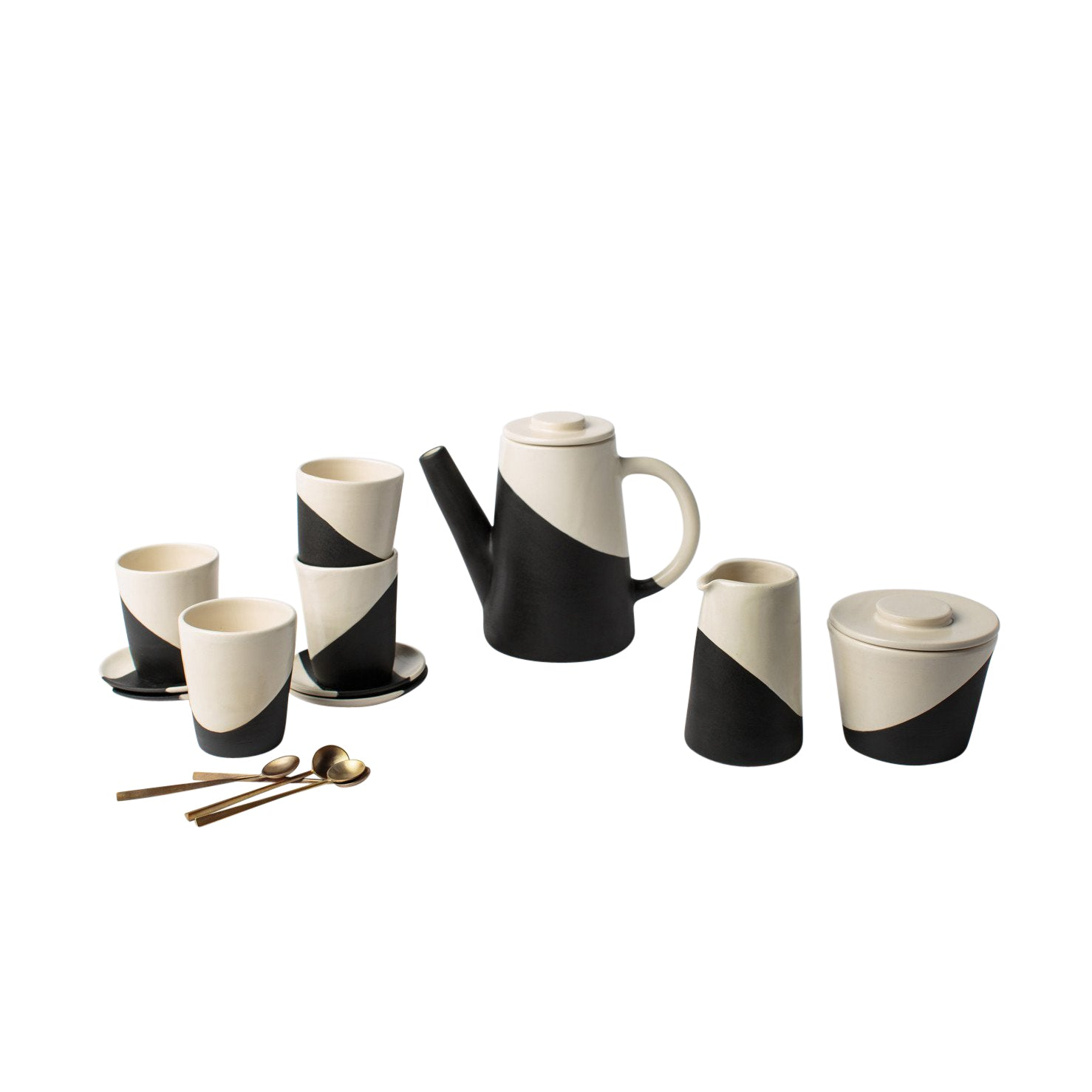 Apparatus Shift Cup and Saucer Set