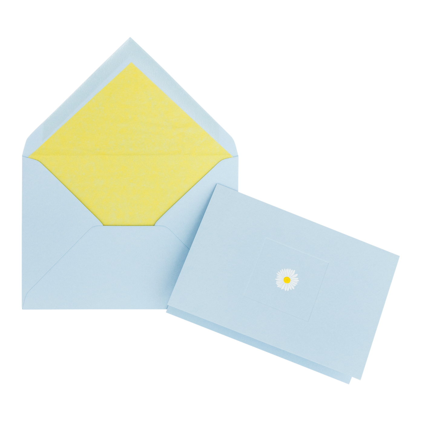 Daisy on Blue Correspondence Card