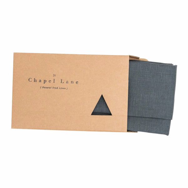 Charcoal Grey Linen Tea Towel