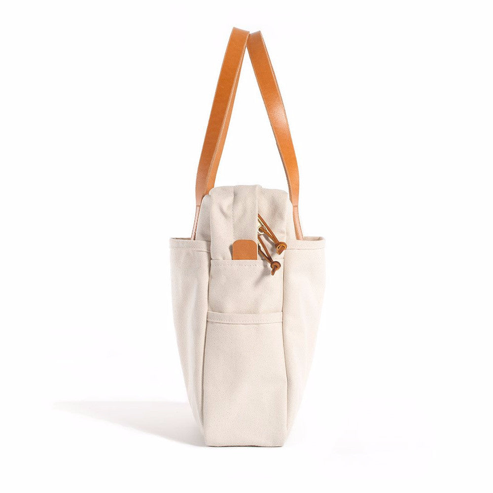 Natural Zip Utility Tote