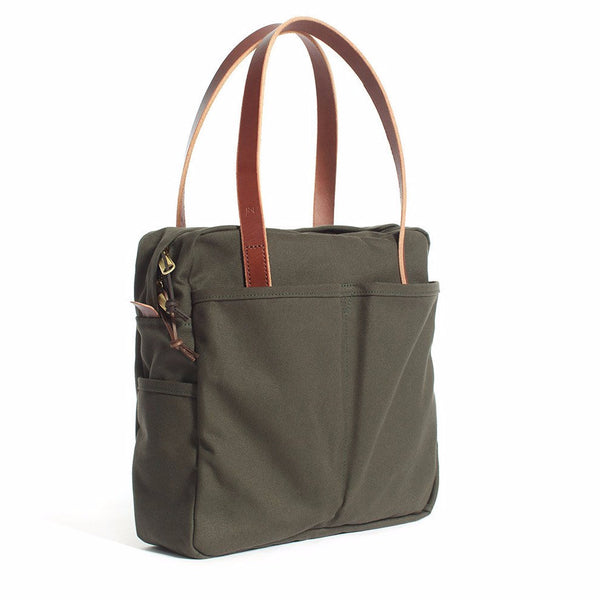 Olive Zip Utility Tote