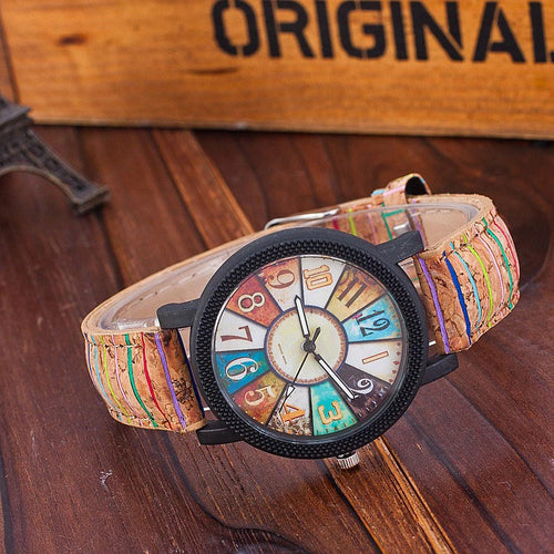 Spiral Crown Casual Vintage Leather Women Quartz Watch™
