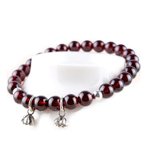 Load image into Gallery viewer, Natural Red Wine Garnet Bracelet™