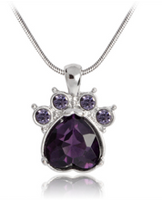 Load image into Gallery viewer, Birthstone Rhinestone Paw Foot Necklace™
