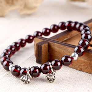 Natural Red Wine Garnet Bracelet™