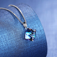 Load image into Gallery viewer, Silver Crystal Rubik's Cube Necklace™