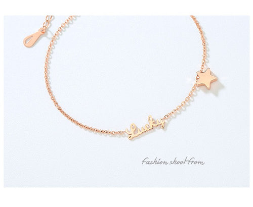 Rose Gold Anklet Lucky Star Bracelet™
