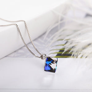 Silver Crystal Rubik's Cube Necklace™