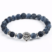 Load image into Gallery viewer, Black Agate Frosted Vein Lion Bracelet™