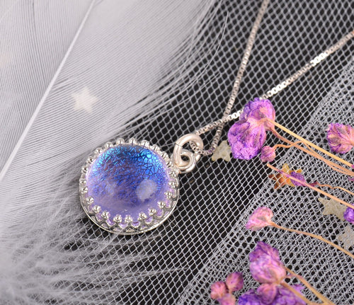 Blue-Violet Holy Ghost Gemstone Pendant Necklace™