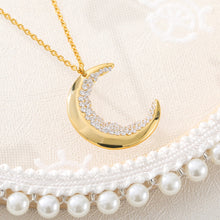 Load image into Gallery viewer, Crescent Moon Crystal Necklace™