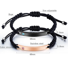 Load image into Gallery viewer, Custom Engraving Titanium Stainless Steel Couple Bracelets™