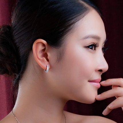 Circular Earring with Crystal Luxury™