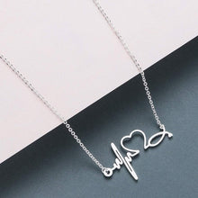 Load image into Gallery viewer, Lovely Stethoscope Heartbeat Necklace