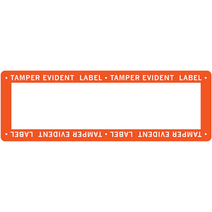"1"" x 3"" Tamper Evident Paper Label Permanent Adhesive Orange Border (500/Roll)"
