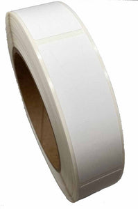 "1"" x 3"" Tamper Evident Paper Label Permanent Adhesive Blank (500/Roll)"
