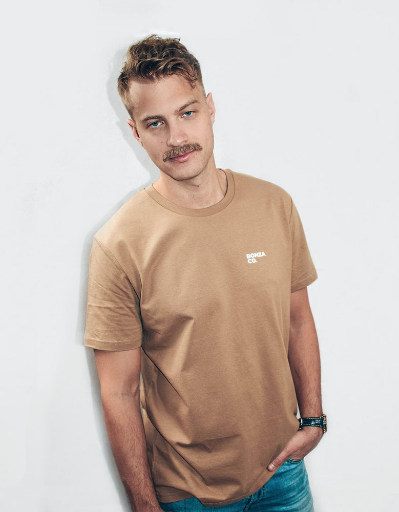 Bonza Co. T-shirt camel