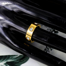 Load image into Gallery viewer, Luxury Brand Stainless Steel Rose Gold Color Love Ring