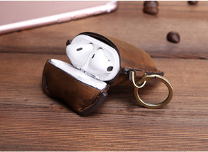 Oil Nubuck Leather Case For AirPods