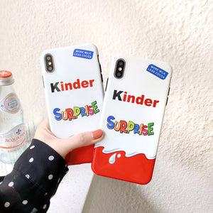 New Trolly egg KINDER JOY Surprise soft silicon cover cases for iphone