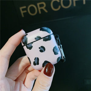 Luxury Leopard Cartoon Cute Cherry Silicone Case For Airpods