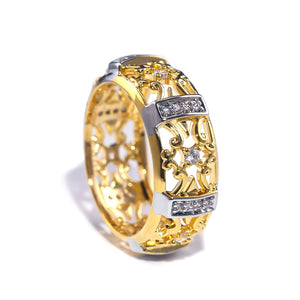 Luxury Golden Color Women Jewelry Accessories Finger Rings