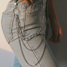 Load image into Gallery viewer, Single/Three Layer Belt Key Chain Waist Pants Chain Jeans Long Metal Clothing Accessories