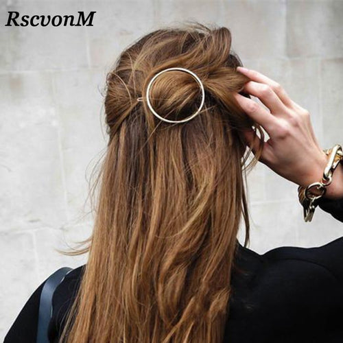 Top quality Gold Silver Color Metal Hairpin