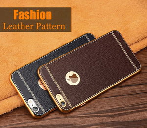 Luxury 3D Leather Retro Phone Case For iPhone