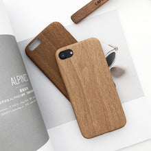 Load image into Gallery viewer, Wood Grain Phone Case For iPhone Soft PU Back Cover