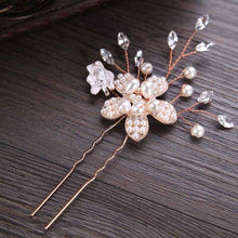 Load image into Gallery viewer, Rose Gold Prom Bride Bridesmaid Hair Accessories