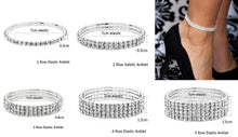 Load image into Gallery viewer, Stretch Anklets Women Boho Crystal Bracelet
