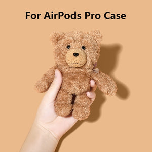 Fluffy Cartoon Bear Case for Airpods