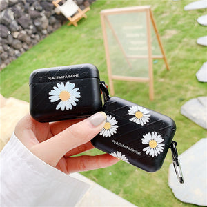 Luxury Meteor Texture Daisy Case For Apple Airpods