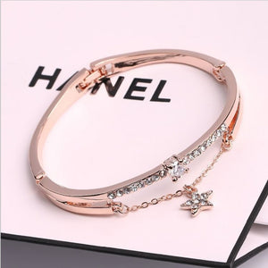 Luxury Famous Brand Jewelry Rose Gold Stainless Steel Bracelet