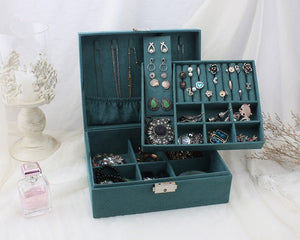 Double-layer Velvet Jewelry Box European Jewelry