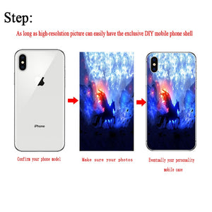 Soft Silicone TPU  Phone Case Customized Photo  For iPhone