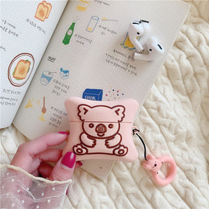 3D Cookie Bear Earphone Case for Apple Airpods