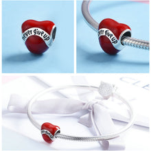 Load image into Gallery viewer, 100% Authentic 925 Sterling Silver Heart Shape Charm Beads Fit Brand Charm Bracelet