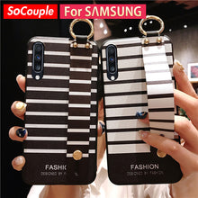 Load image into Gallery viewer, SoCouple Wrist Strap Phone Case For Samsung Galaxy