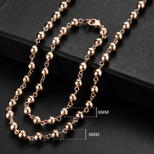 Load image into Gallery viewer, Rose Gold Bracelet Necklace Set Double Women's Jewelry Set