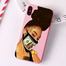 Load image into Gallery viewer, Black Girl Fundas phone case for iPhone Candy Pink Silicone Cases