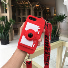 Load image into Gallery viewer, 3D Retro Camera Wallet Card bracket Case For IPhone