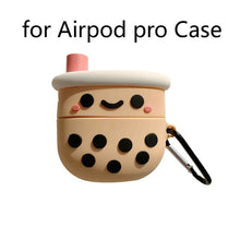 Load image into Gallery viewer, Boba Tea Silicone Case for Apple Airpods
