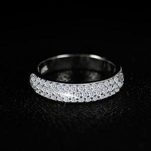 Gorgeous Silver Wedding Ring Set band for bridal girls and Women