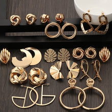 Load image into Gallery viewer, 2020 Fashion Classic Gold Color Twisted Love Knot Stud Earrings