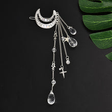 Load image into Gallery viewer, Fashion Elegant Women Lady Moon Rhinestone Crystal Tassel Long Chain