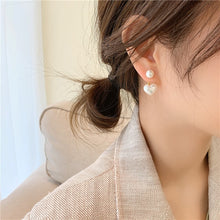 Load image into Gallery viewer, New fashion contracted Heart Pearl fine earrings