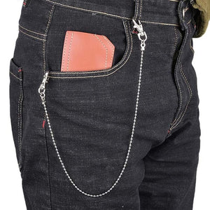 Single/Three Layer Belt Key Chain Waist Pants Chain Jeans Long Metal Clothing Accessories