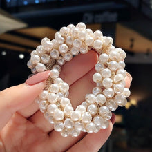 Load image into Gallery viewer, New Creative Handmade Simulated Pearl Braided Hair Ring Temperament Elastic Hair Rope